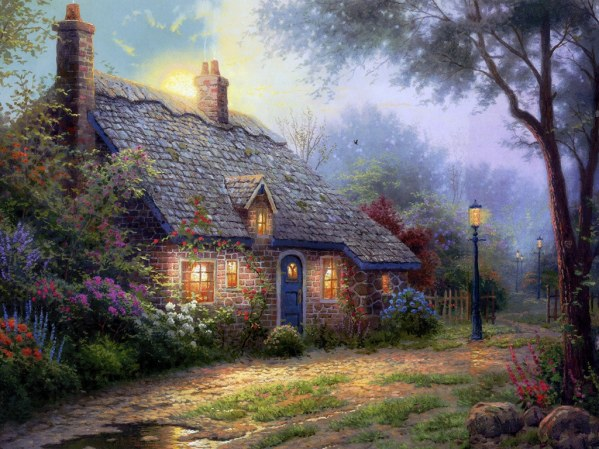 thomas-kinkade-oil-painting-favorite